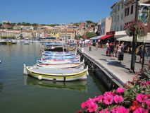 Peaceful Fishing Village. Cassis, Mediterranean Coast Stock Photo