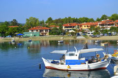 Peaceful fishing village Greece Royalty Free Stock Images