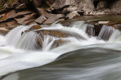 Peaceful flowing stream in mountains Royalty Free Stock Photo