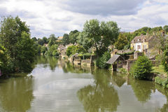 Peaceful  French riverbank Stock Images