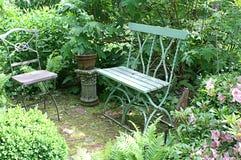 Peaceful Garden Seating Royalty Free Stock Photos