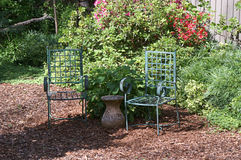 Peaceful Garden Seating Royalty Free Stock Photography
