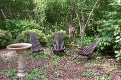 Peaceful Garden Setting Royalty Free Stock Photography