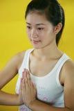 Peaceful girl Stock Image