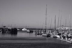 Peaceful Harbor at Monterey, California Stock Image