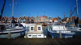 Peaceful harbor of Volendam (Netherlands) Stock Image