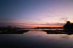 Peaceful Harbour at Sunset Royalty Free Stock Images