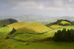Peaceful hills in  Sao Miguel Stock Photography