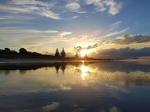 Peaceful image of epic sunset taken in New Zealand royalty free stock photography