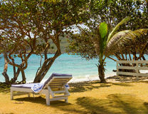 A peaceful inn on the windward side of bequia Stock Photo