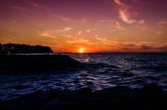 Peaceful Island Shoreline Sunset Royalty Free Stock Image