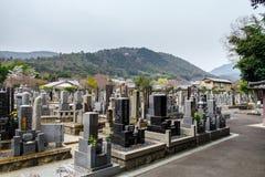 Peaceful Japanese cemetery in Arachiyama, Japan Stock Photography