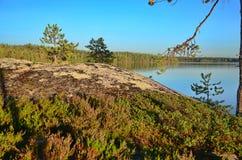 Peaceful Karelian lake Stock Images