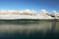 Peaceful Lake. Stunning landscape of lake and mountains at New Zealand Royalty Free Stock Photo