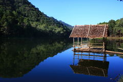 Peaceful lake. In north of Thailand Royalty Free Stock Photos
