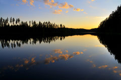 Peaceful lake royalty free stock photos