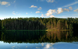 Peaceful lake. Peaceful scenery at a lake in the north of sweden Stock Image