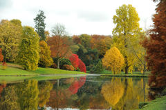 A peaceful lake in autumn. Royalty Free Stock Image