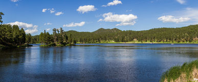 Peaceful lake. Beautiful peaceful lake in Custer State park, South Dakota Stock Photo