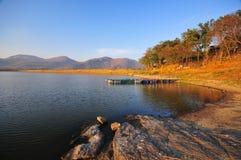 Peaceful lake. A peaceful lake so beautiful Stock Image