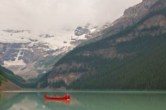 Peaceful lake with boat on lake Royalty Free Stock Photography