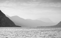 Peaceful Lake Como Royalty Free Stock Photos