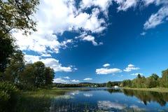 Peaceful lake at Dikemark horizontal Stock Image