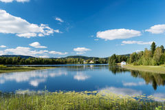 Peaceful lake at Dikemark Norway Royalty Free Stock Image