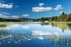 Peaceful lake at Dikemark serene Stock Images