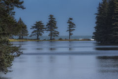 Peaceful Lake. Lake Gertrude with its still blue waters in Alaska Royalty Free Stock Images