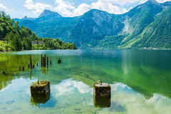 The peaceful lake of Hallstatt, Austria Stock Photo