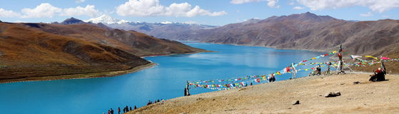 Peaceful Lake In Tibet Royalty Free Stock Images