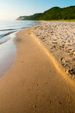Peaceful Lake Michigan Beach Royalty Free Stock Photos
