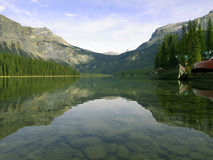 Peaceful lake in Rockie Mountain Royalty Free Stock Image