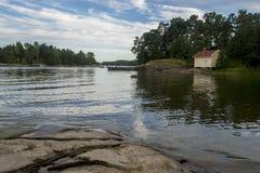 Peaceful lake scenery Stock Photography