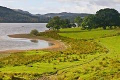 Peaceful lake in Scotland Stock Photo