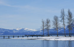 Peaceful lake Tahoe in winter Royalty Free Stock Photography