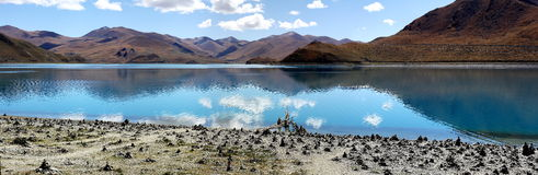 Peaceful lake in tibet Royalty Free Stock Image
