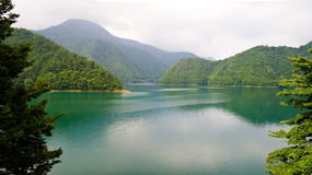 Peaceful lake of Tokyo. Peaceful lake surrounded by mountains in Tokyo Royalty Free Stock Photos