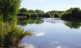 Peaceful lake view in Kent, England Stock Images