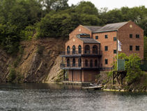 Peaceful Lakeside Building Royalty Free Stock Image