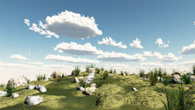 Peaceful landscape 3d illustration Stock Photography