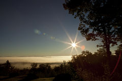 Peaceful landscape with flare. A peaceful landscape with flare Stock Photography