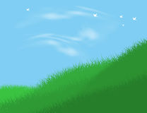 Peaceful landscape vector nature Royalty Free Stock Image