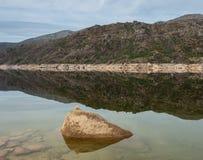 Peaceful Landscape of `Vilarinho das Furnas` in Geres National Park. Peaceful Landscape of `Vilarinho das Furnas` in Geres National Park, Portugal stock image