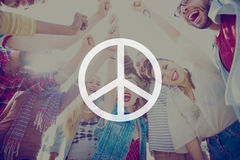 Peaceful Liberty Protest Symbol Gradient Concept Royalty Free Stock Image