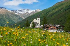 The peaceful life of a swiss village royalty free stock photos