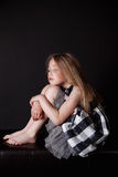 Peaceful little girl with closed eyes Royalty Free Stock Photo
