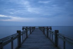 Peaceful mornig pier royalty free stock image