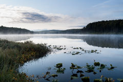 Peaceful morning on Fish Lake Royalty Free Stock Images